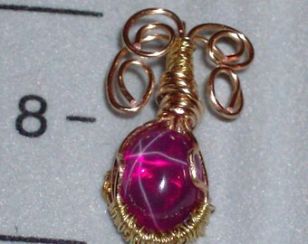 Star Ruby Gold Pendant
