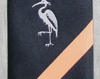 Pelican / Heron Orange & Black Striped Skinny Vintage Mod Tie Necktie 1960's Style New Unworn