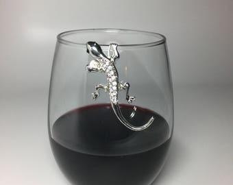 Gecko Bling Wine Glass Marker