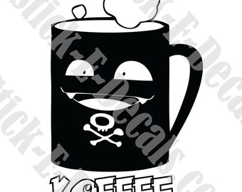 Koffing  KOFFEE Coffee Funny Decal Sticker FREE USA Shipping!