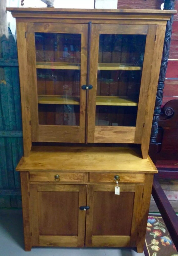 - Antique Stepback 2 Piece Stepback Cupboard 44w78h20d Top Is