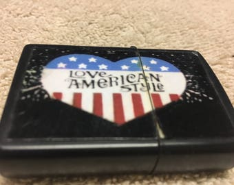 "Generic ""Love American Style"" Lighter/Non Used/Free Shipping!!!"