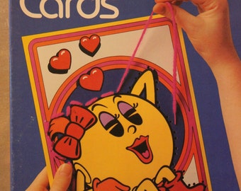 Wonderfully Vintage Ms. Pac - Man Sewing Cards - Colorfoms 1982