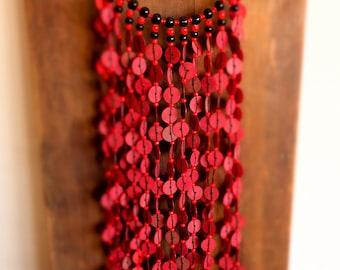 Ethnic necklace made of bakelite
