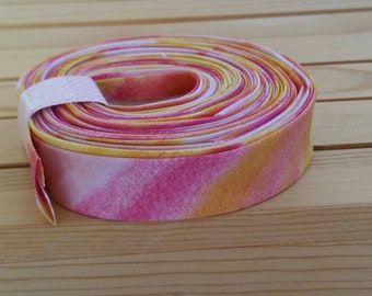 """1/2"""" Double fold Bias tape binding, water color sunset"""