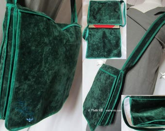 forest Emerald, 2 pockets inside bag