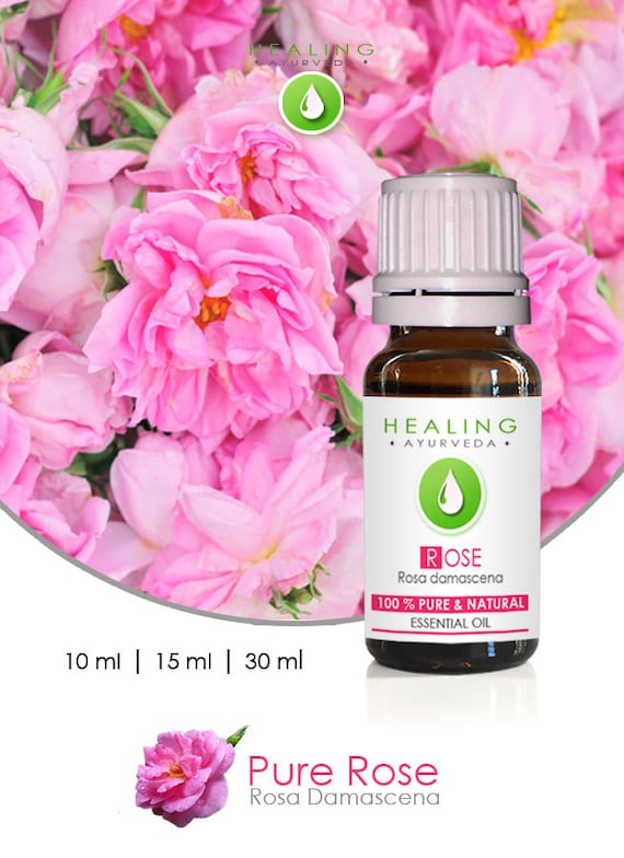 Rose Otto -Natural Rose essential oil- Turkish Rose oil- Organic Rose - Aromatherapy Rose- skin care- Bath oil- undiluted Rose essential oil