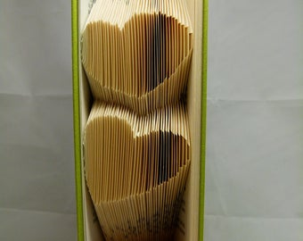 """Carving book """"2 hearts"""" 3D"""