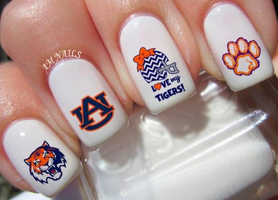 Auburn Tigers Nail Decals