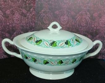Vintage ceramic covered serving dish