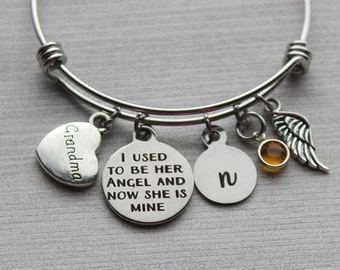 Grandma I Used To Be Her Angel Now She Is Mine Bracelet, Memorial Jewelry, Memorial Bracelets, Sympathy Jewelry, Sympathy Gifts, Remembrance