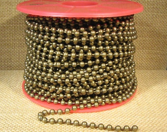 4.5mm Ball Chain - Antique Brass - CH98-AB - Choose Your Length