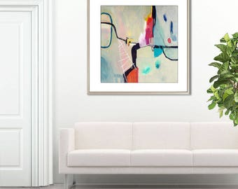 Abstract print, large minimalist print, abstract print contemporary, abstract painting print, large abstract art print, GICLEE  Stop Show #2