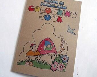 Pixieland colouring book