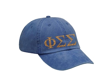 PhiSig Phi Sigma Sigma Letters Hat Choose Your Colors Sorority Hat