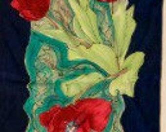 Tulip Charmeuse Silk Scarf