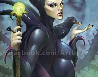 Maleficent Painting Poster Print