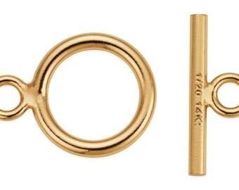1 Set 11 mm 14K Gold Filled Toggle Clasp (GF4004007)