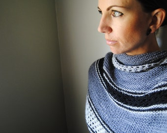 AMIDST Shawl Knitting Pattern PDF
