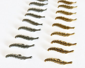 T bar - toggle bar - vine bar - feather bar - pewter or gold plate - 10 pieces
