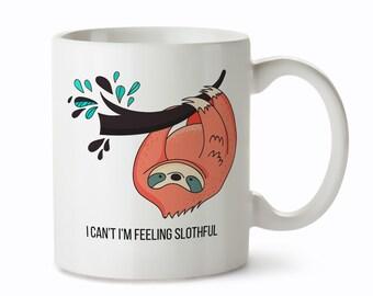 Sloth Gifts - Sloth Tea Mugs - Sloth Mugs for Her - Sloth Coffee Mug - Sloth Gifts for Women  - Tea Mugs for Women - Cute Sloth Gifts