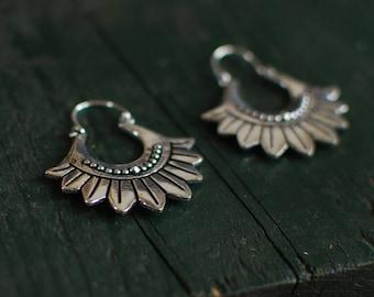 Flower power small earrings - Silver -