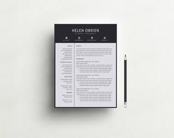 Creative Resume Template | Cover Letter | Modern and Professional Resume Design for Word | DIY Printable | CV | Teacher Resume | CV Template