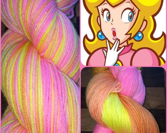 Your Princess is in Another Castle --  Sparkle Sock Yarn/ 438 yds