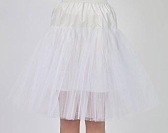 Wedding petticoat Womens underskirt Bridesmaid underskirt Wedding crinoline 1950s petticoat Cotton and net petticoat Knee length petticoat