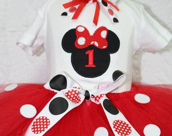 Minnie Mouse,1st birthday, 1st birthday outfit, first birthday, Disney, birthday, Red, tutu, birthday tutu, baby 1st birthday, Disney shirt,