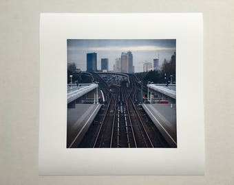 Fineart photo Surreal City-Amsterdam-landscape-grey-Hahnemuhle Photorag paper