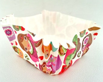 25 pcs.Square Cute DOLLS pleated CUPCAKE wrappers 2.4x2.4 inches,height 2.5 inches,cupcake liners,cupcake,muffin cup,candy cup,Ice cream cup