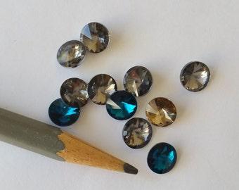 11 Rivoli crystal rhinestones 8mm