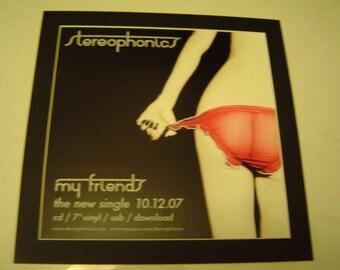Stereophonics meine Freunde-Original-Poster in einer benutzerdefinierten gemacht Mount bereit zum Rahmen