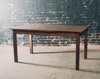 Modern walnut farm table