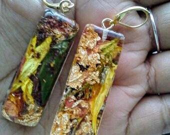 Spring Fever log earrings
