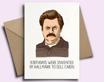 Ron Swanson Personalised Birthday Card - Parks and Rec Recreation