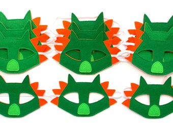 Dragon Masks - Party Pack - 12 Masks - Kid's Mask - Dragon - Mask - Dress Up - Play - Costume - Party Favor - Dress Up - Halloween - Toddler