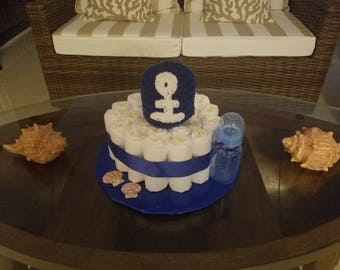 Infant Boys' Anchor Diaper Cake/Gift Arrangement