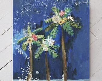 Flora & Palm Trees Under the Stars