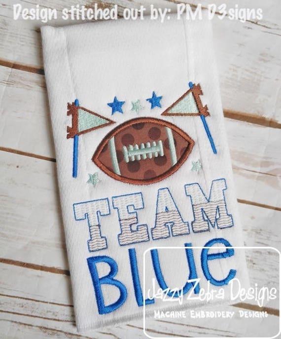 Team Blue applique embroidery design - blue appliqué design - boy appliqué design - baby appliqué design - baby reveal appliqué design