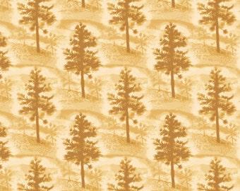 Native Pine Fabric Mini Pine Tree Tan From Quilting Treasures