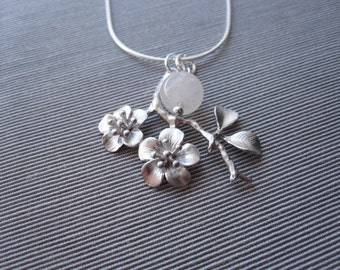 Free Shipping-- Cherry Blossom Necklace