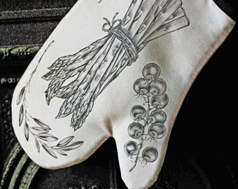 Oven Glove with Italian Vegetable design (Sold singly or as a pair)