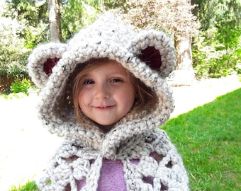 Spirit Bear Hooded Scarf
