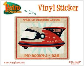 Patrol Craft 338 Toy Art Lunastrella Vinyl Sticker - #64407