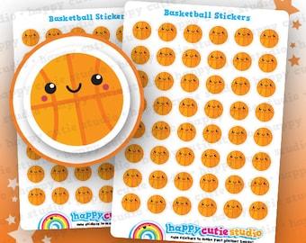 48 Cute Basketball/Sport Planner Stickers, Filofax, Erin Condren, Happy Planner,  Kawaii, Cute Sticker, UK