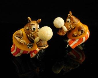 Vintage Toys, Collectible, Soccer Coati, Animal Football, Dribbel Boys 1990, Power Porky, Vintage KINDER Surprise Figurine