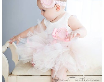 Sweet Champagne and Pink Frosting Tutu Dress | Baby Girls Birthday Tutu Dress Outfit | 1st Birthday Dresses | Cake Smash Tutu Dress