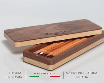 Wooden pencil box,Wood Pencil case,Desk accessories,Easter gift,Gift for him,Gift for her,Pencil pouch,Pen holder,Pen box,Personalized gift